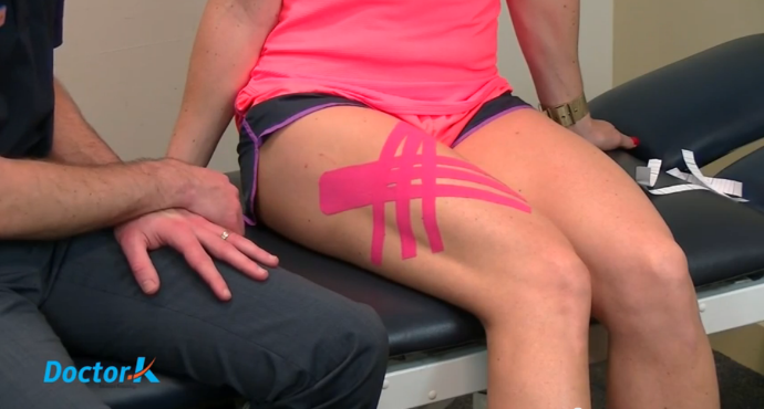 Kinesiology Tape a Corked Thigh
